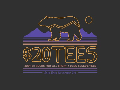 Tribal Bear $20 Tees