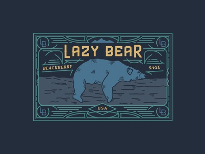 Lazy Bear Shot blackberry tobacco outside outdoors nature mountains honey hiking candle adventure