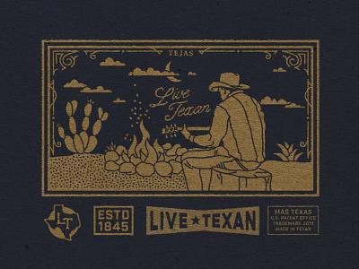Drifting Cowboy texan cactus tejas guitar drifter campfire desert waco texas cowboy hat western out west west cowboy