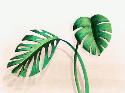 A little drawing I did today. green plant design illustration