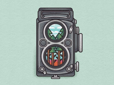 Reflection. camera flatdesign sunset wip wacom digital painting landscape illustration
