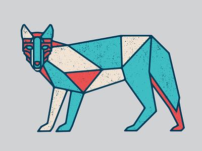 Wolf geometric texture vector wolf flatdesign wip illustration