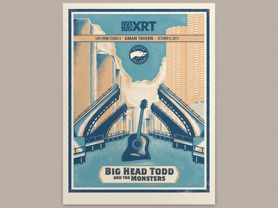Big Head Todd Poster screenprint poster chicago texture illustration