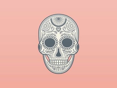 Bicycle themed skull illustration bicycle pink ornate flower skull