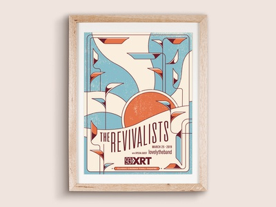 My poster for XRT'S Revivalists show at Tivoli Theatre. vector design screen print poster illustration
