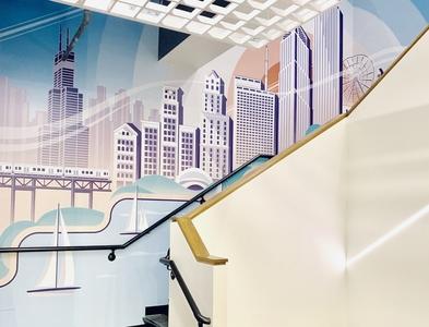 Chicago Mural mural wacom design drawing illustration