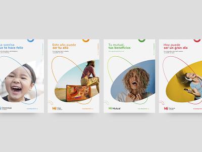 Mi Mutual - Brand sistem typography illustration logo posters branding design