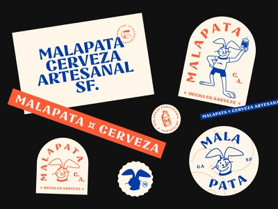 Malapata Brewery  - Labels and badges icons brewery logo craftbeer brewery branding brewery malapata badge logo badge design stickers labels badges craft beer design typography illustration logo branding