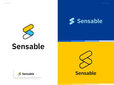 Sensable - Logo Concept startup monogram s logo mark s logo engineers industrial ai analitycs video typography logo design branding