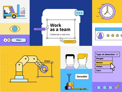 Sensable Branding startup logo video analysis it services ai startup ux ui logo flat typography branding illustration animation design