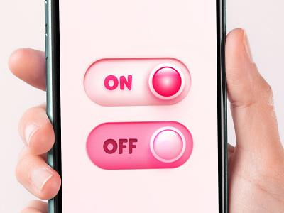 Pink BTNs app love minimal logo vector ui branding design