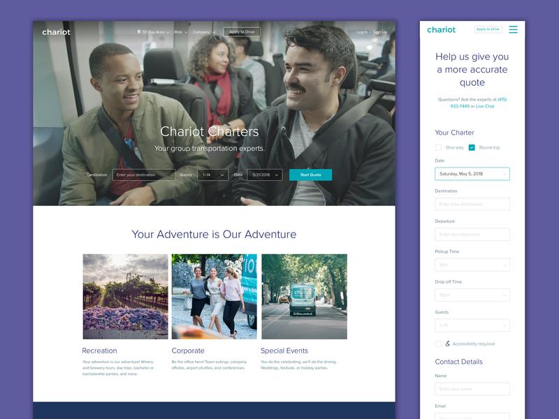 Charters Page Re Design ui mobile web design desktop design website illustration branding