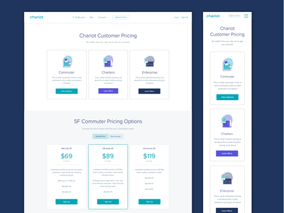 Chariot Pricing Page