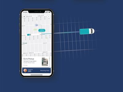 Chariot Rider App Visual Design