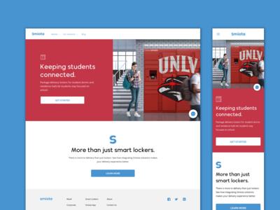 Smiota University Page Design