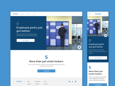 Smiota Corporate Page Design