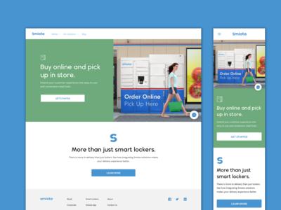 Smiota Retail Page Design