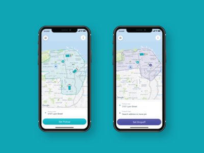 Chariot Mobile App Service Areas