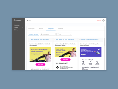 Dashboard for Job Posting Automation Tool