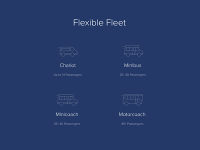 Chariot Flexible Fleet Icons
