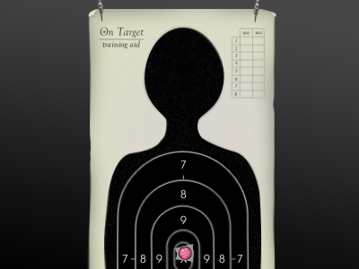 On Target: Bullseye rebound target practice black