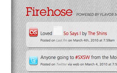 Firehose social stream redesign red
