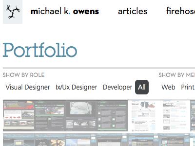 Portfolio portfolio redesign