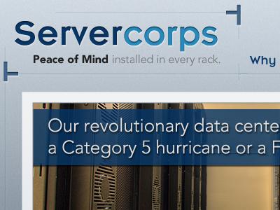 Servercorps servercorps redesign blue avenir emblem