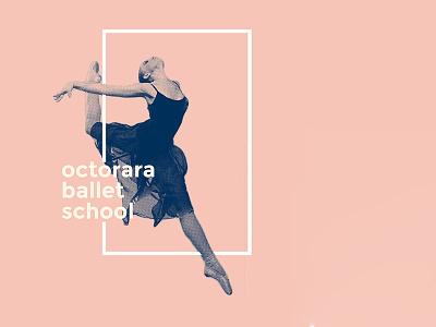 Octorara Ballet School school dancer graphic ballerina blue pink design dance ballet