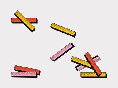 Building Blocks logo typography brand illustration pink branding type layout color design