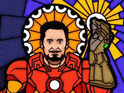 YisuStark stark vitral badge badge design chile ges endgame avengers ironman