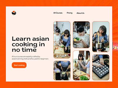 Cooking Courses UI design ux web design ui