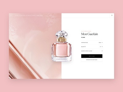 Guerlain - Product page ui fragrance luxury layout e-comerce design branding