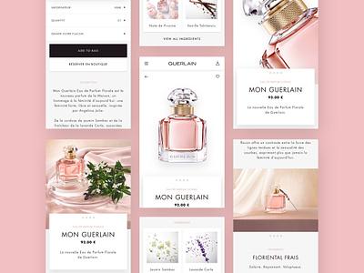 Guerlain - mobile layout responsive design mobile e-comerce ui luxury layout fragrance branding