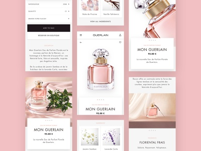 Guerlain - mobile layout responsive design mobile e-comerce ui luxury layout fragrance branding