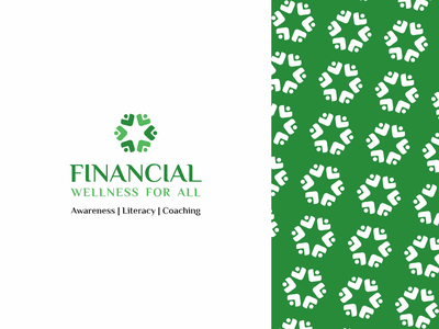 Financial Wellness for All clean 2020 concept raghu designer raghu sharma financial wellness finance logo non profit logo charity logo vector logodesign dribbble branding graphic design brand identity logo