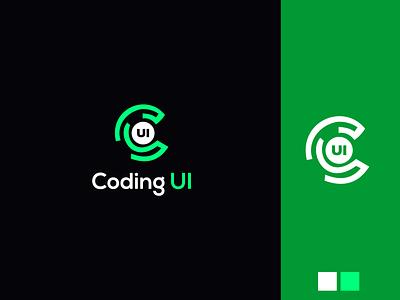 Coding Ui Logo Design free psd icon symbol icon brush typography brand logodesigner logodesign download free vector concept art monogram tech coding brand identity graphicdesign branding logotype logo