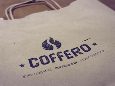 Coffee Shop Logo on Paper Bag