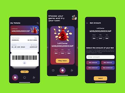 Betting App UI Design ticket green mobile design mobile app ux ui beting app design app