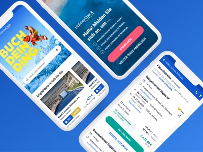 Holidaycheck Mobile App ui design offer list mobile apps design ui figma ios holiday travel mobile