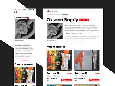 Art in House - Painter profile ui figma mobile design mobile ui mobile paint painters gallery design art