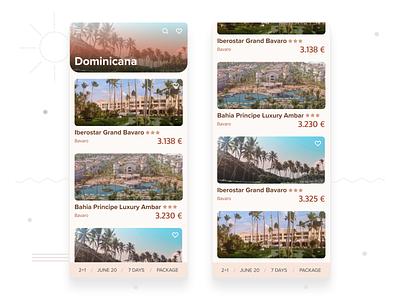 Travel App Hotel List list holiday booking hotels travel app travel mobile design mobile ui figma design