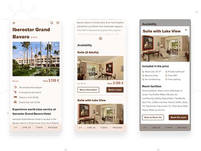 Travel App Hotel Info ui hotel design hotel booking hotel details holiday travel rooms overview gallery list hotel mobile design mobile figma design