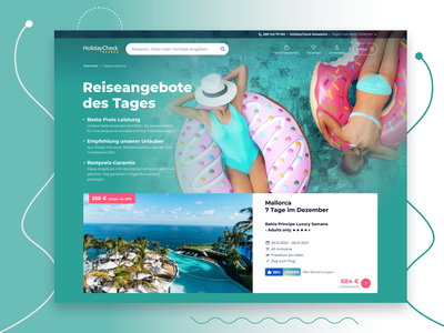 Holiday Special Offers Page beach sea hotel flight booking hotel booking ui summertime promotion holidays holiday deals list desktop figma design