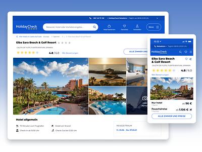 Hotel Page Concept hotel booking hotel beach travel holiday mobile design desktop mobile ui figma design