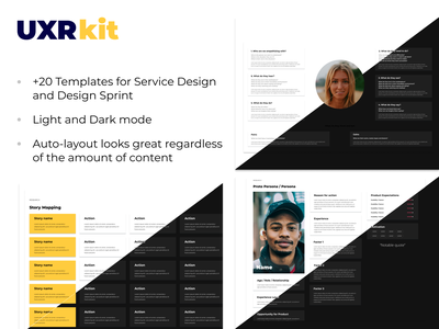 UXR Kit for Figma kit researcher research user experience customer experience persona designer ui figma design