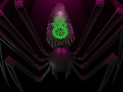 Spider sculpt zbrush insect spider design 3d art cinema 4d octane render visualisation octanerender octane cinema-4d 3d artist 3d