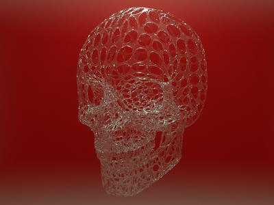 Skull zbrush design visualisation octane render octanerender octane cinema-4d cinema 4d 3d artist 3d art 3d
