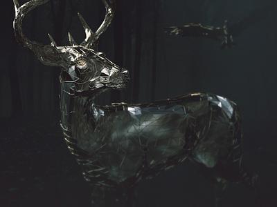 Darkness... darkness deer octane render octanerender octane cinema-4d cinema 4d 3d artist 3d art 3d