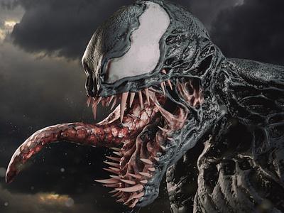 Venom sculpt sculpt sculpting vray modo zbrush 3d artist 3d art 3d design